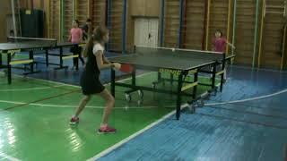настольный теннис Одесса, 24.11.2018 Колодеева Vs Кривошея