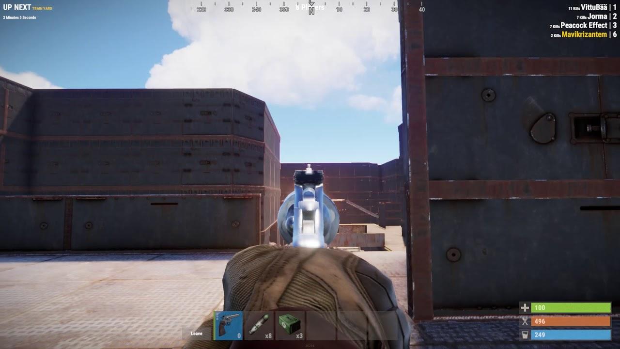 Noob Rust Player Uses Python Revolver