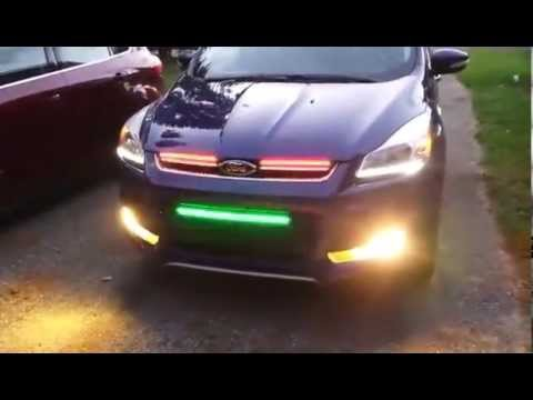 New Chevy Silverado >> 2014 Ford Escape Knight Rider Lights LED - YouTube