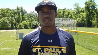 Jamal Wade from St. Paul's / 2014 Varsity Sports Network Baseball Player of the Year