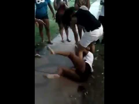 Naked girls fight video