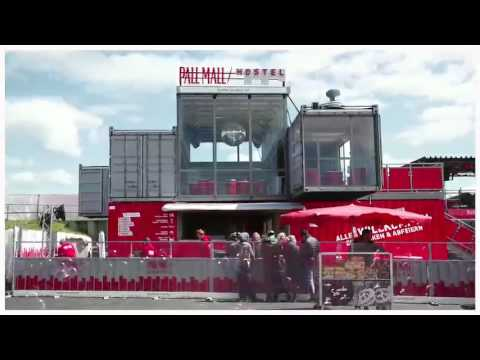 pall mall hostel event container building by. Black Bedroom Furniture Sets. Home Design Ideas
