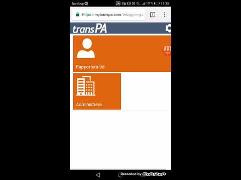 TransPA inloggning till tidrapportering, mytranspa.com