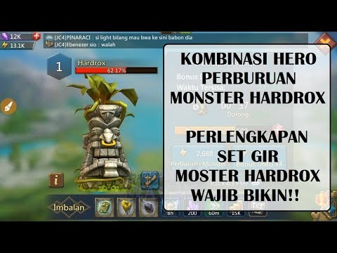 LORDS MOBILE - KOMBINASI HERO DAN SET GIR MONSTER HARDROX