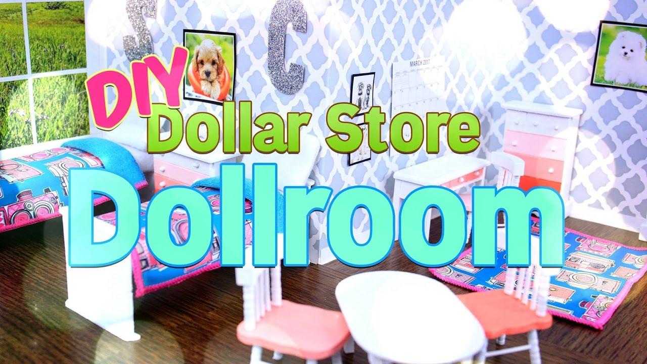 DIY   How To Make   Dollar Store Dollroom   Handmade   Doll   Craft   4K    YouTube Part 74
