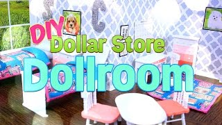 DIY - How to Make - Dollar Store Dollroom - Handmade - Doll - Craft - 4K