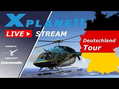 X-Plane 11 ✈️   LIVESTREAM Deutschland Tour #04   Hamburg - Lübeck - Kiel   Deutsch German