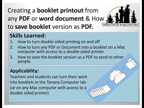 How To Print Booklets On Mac Computers With Access To Double Sided Printer