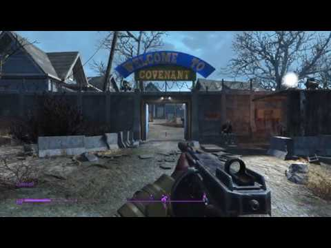 fallout 4 blind part 34 covenant compound romancing cait and