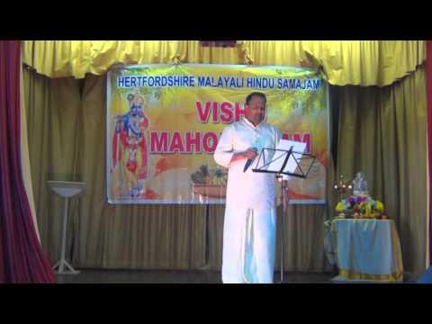Neyyattinkara vazhum by Pramod Pillai in Hertfordshire Malayalee Hindu Samajam Vishu 2016