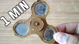 How to Make Fidget Spinner at Home without Bearings with cardboard