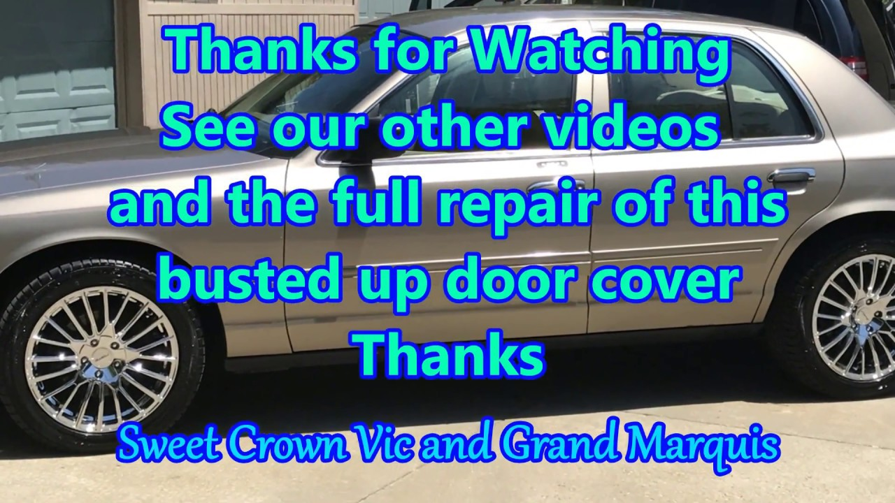 How To Remove Crown Vic And Marquis Front Door Panels Youtube