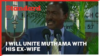 Kalonzo Musyoka vows to unite Muthama with his ex-wife after Machakos senatorial by-election