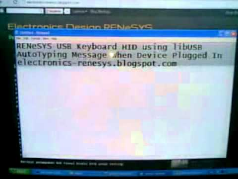 USB Autotyping Keyboard (libUSB)