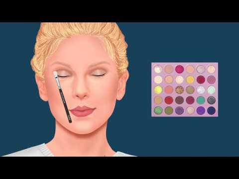 TAYLOR SWIFT MAKEUP TUTORIAL ANIMATION USING COLOURPOP KATHLEENLIGHTS EYESHADOW PALETTE thumbnail