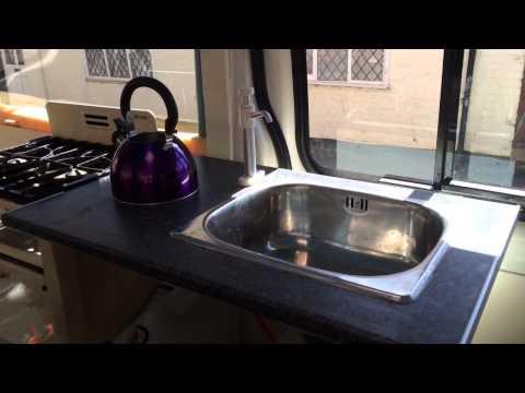 Part 5 of our transit mini bus conversion. Kitchen Unit & oven. Happy days!