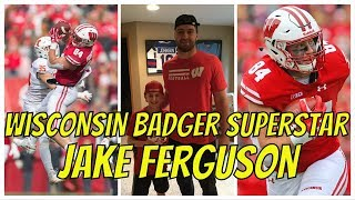Jake Ferguson Interview, Highlights And Autograph | Wisconsin Badgers Football Tight End