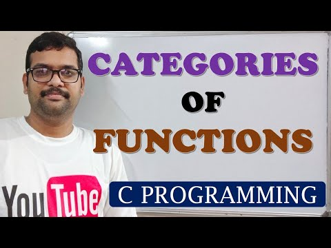 C PROGRAMMING - CATEGORIES OF FUNCTION DEFINITIONS