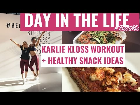 DAY IN THE LIFE | Workout with Karlie Kloss, Healthy Snacks + Portion Control