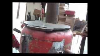 Homemade Wood Stove Potbelly Rocket Log Burner ((part 1))