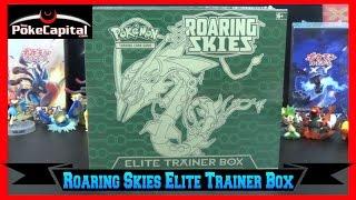 Pokemon Cards Roaring Skies Elite Trainer Box Opening w/ 8 Packs