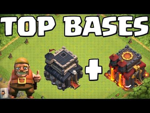 TOP BASES - RATHAUS 9 +10! || CLASH OF CLANS || Let's Play CoC [Deutsch/German HD+]
