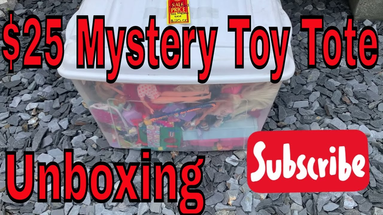 $25 Thrift Store Toy Mystery Box Tote full of Toys Unboxing