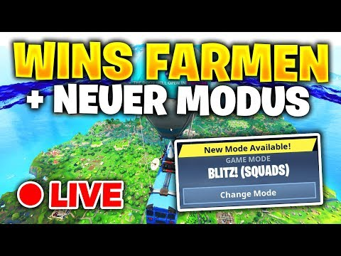 🔴 WINS FARMEN mit FIXX (+NEUER MODUS *BLITZSCHNELL*) | Fortnite Battle Royale [LIVE]