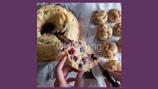 백색소음 베이킹영상: 블루베리 레몬 파운드 케익이랑 애…