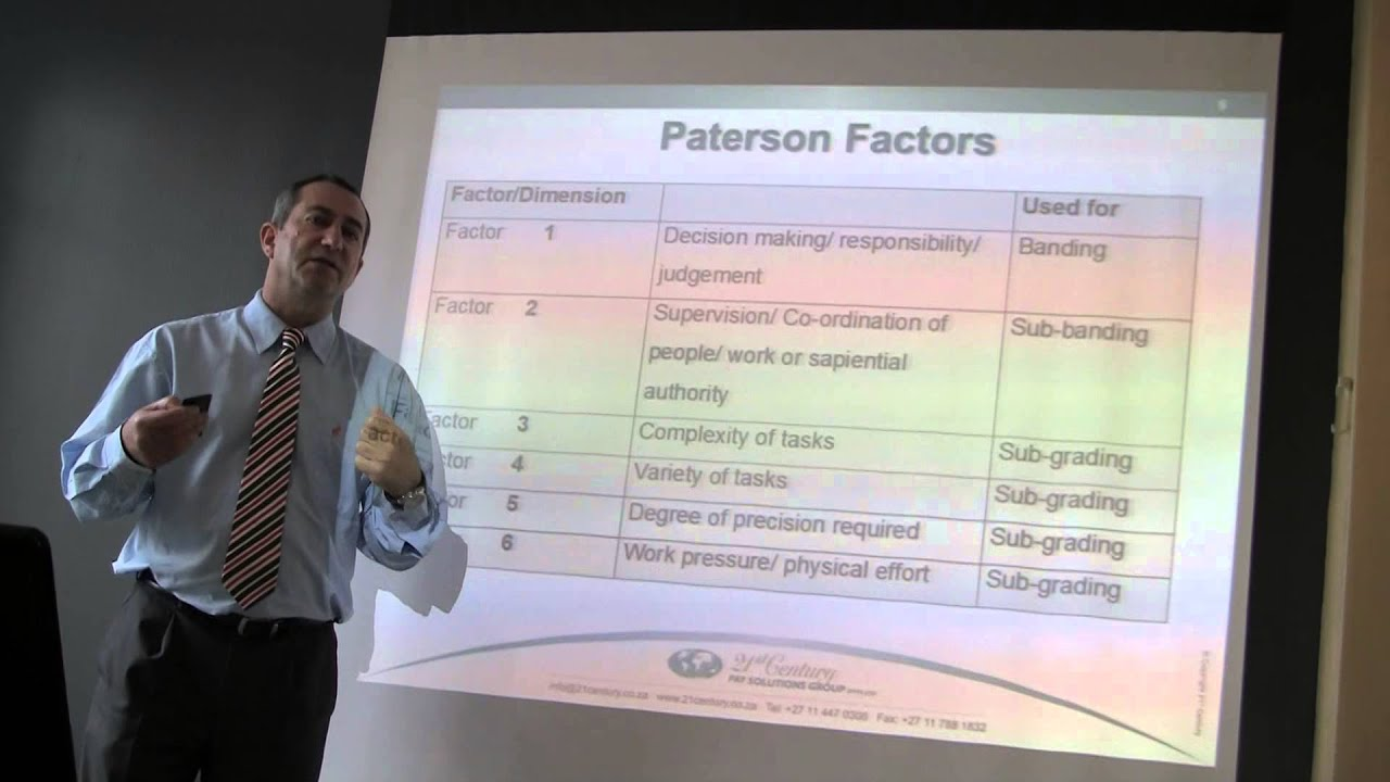 Dr Mark Bussin Paterson Job Evaluation Training