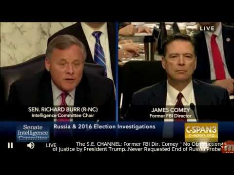 """""""No Obstruction of Justice by President Trump"""" Former FBI Dir. #Comey"""