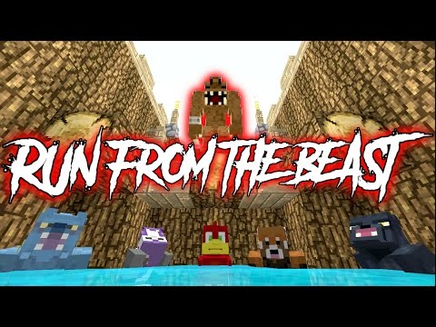 BATTLE OF THE BEAST !! -|- Run From The Beast -|- Minecraft xbox Minigame #3