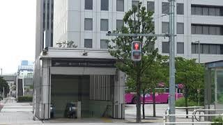 地下駅となるりんかい線品川シーサイド駅の地上の風景
