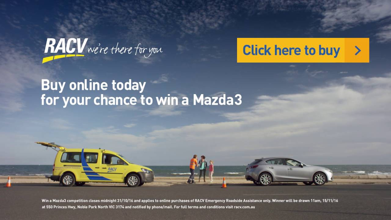 RACV Emergency Roadside Assistance, win a Mazda competition