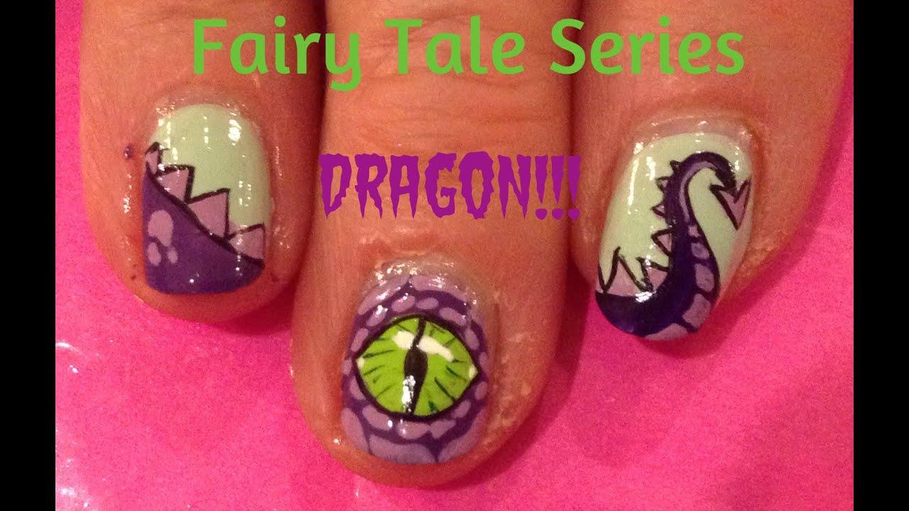 Fairy Tale Series : Dragon Nail Art Tutorial - YouTube