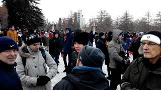 Челябинск 24.12.2017. Выдвижение Навального