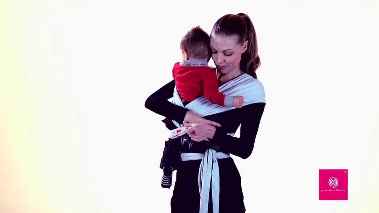 Molto Fascia Porta Bebè Quaranta Settimane Babywrap - YouTube JP34