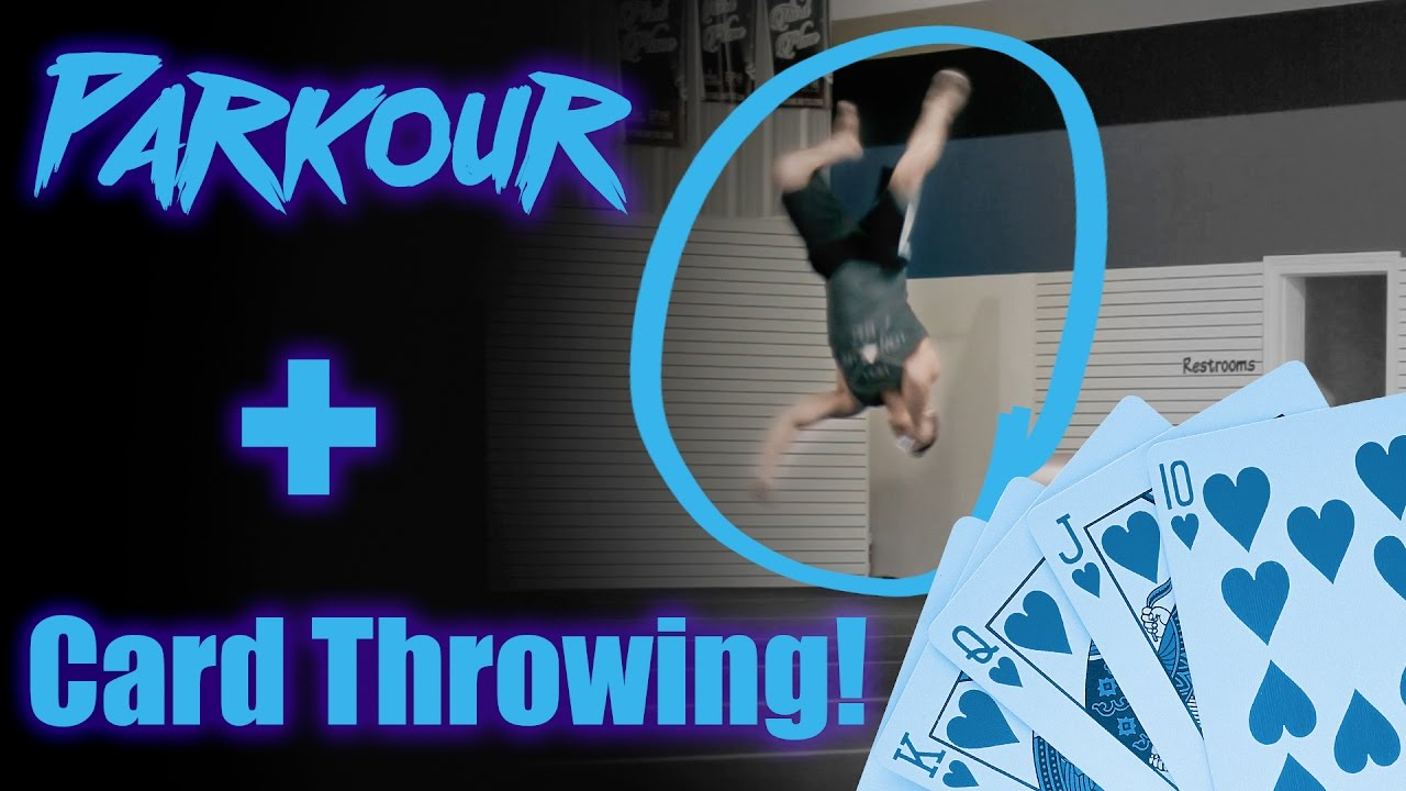 Card throwing parkour challenge youtube reheart Image collections