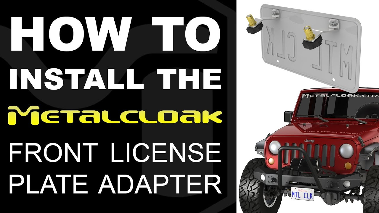How To Install Jk Tj Lj Yj Cj License Plate Adapter Youtube