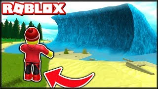 BIG WATER IST APPROACHING!!! | ROBLOX: TSUNAMI Welle! [Riderko & Toomko]