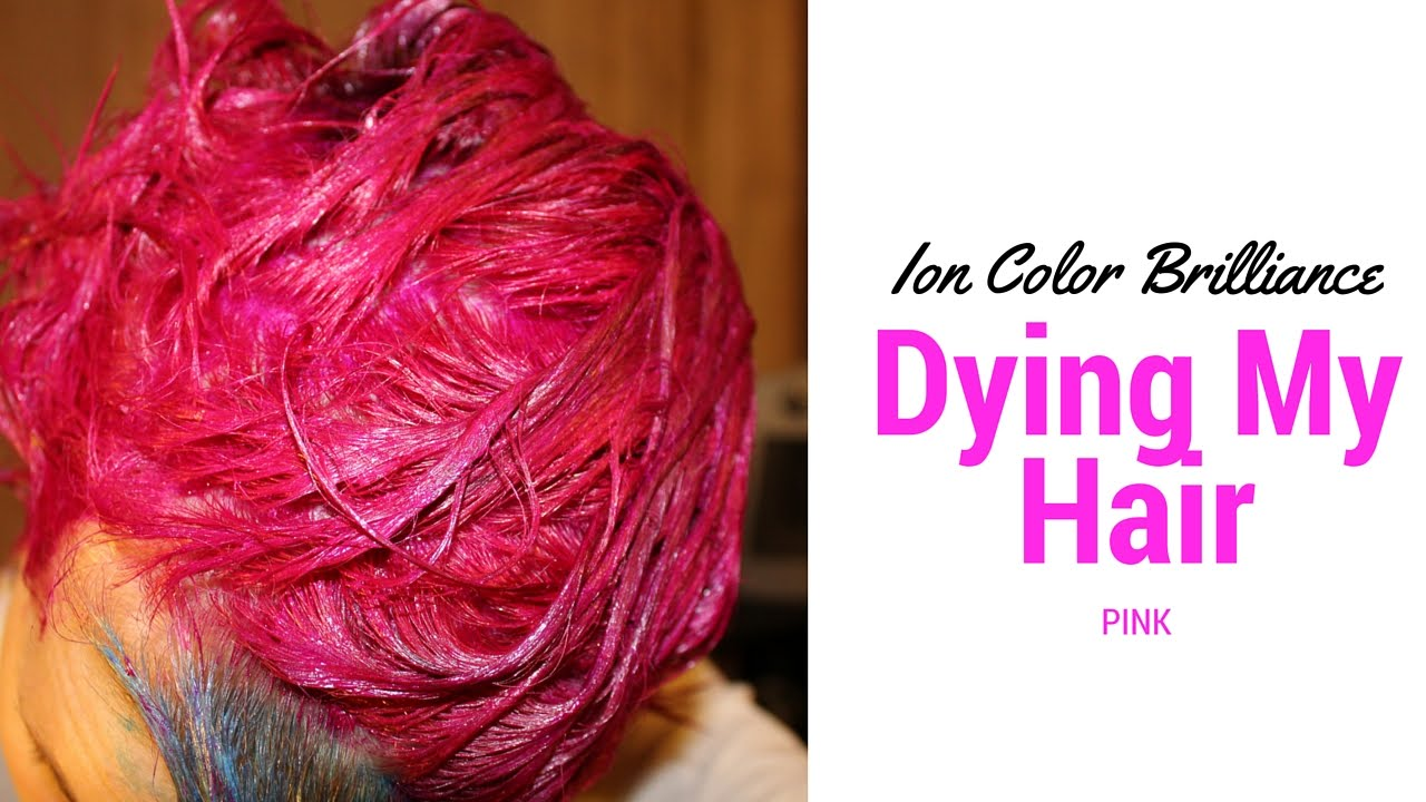 dying my hair pinkion color brilliance magenta