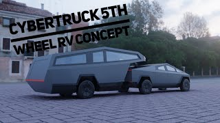 Tesla Cybertruck 5th wheel RV concept Video