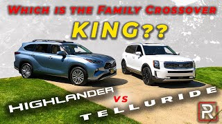 2020 Kia Telluride Vs. Toyota Highlander - Which is The King of Family Cars?