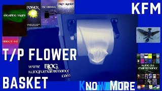 How To Make Toilet Paper Origami Flower Basket Kungfumaintenance  Video