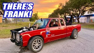 FIRST DRIVE In Our Twin Turbo AWD V8 S10!!! (Bonus Cleetus & Cars Footage with ChrisFix!)