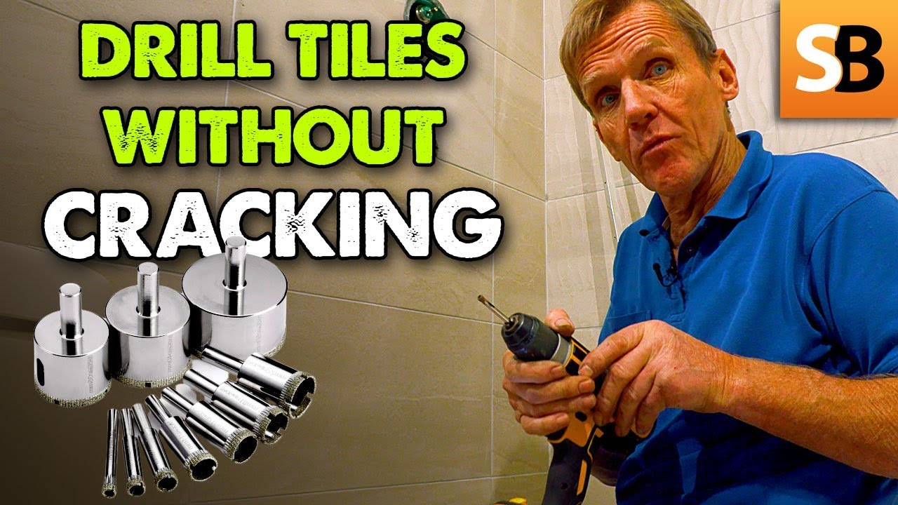 how to drill through tiles without cracking them