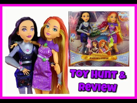 DC Superhero girls Starfire & Blackfire pack - Toy Hunt - Unboxing - Review