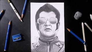 2.0 Rajinikanth  Sketch ( drawing ) | Dharma Productions