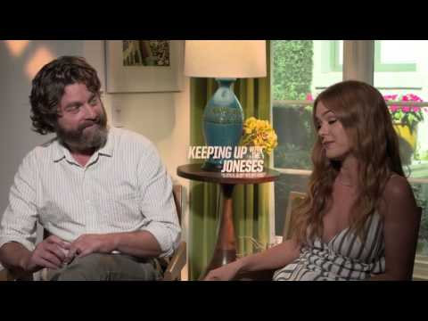 Zach Galifianakis & Isla Fisher Keeping Up With The Joneses Interview