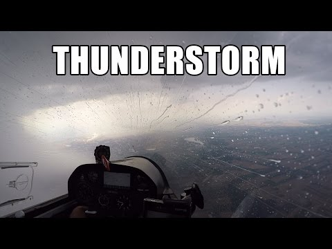 Glider Flying in Big Thunderstorm - apocalyptic views